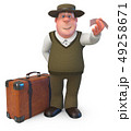 3d illustrationa fat and Jolly man 49258671