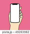 スマホ スマートフォン 携帯電話のイラスト 49263982