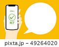 スマホ スマートフォン 手のイラスト 49264020