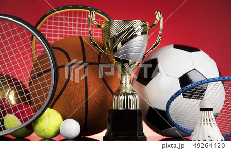 Sport stadium background, Trophy for champion 49264420