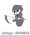死神 骸骨 ドクロのイラスト 49268620