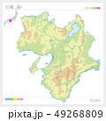 近畿の地図・Kinki(等高線・色分け) 49268809