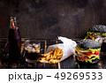 Burgers set background 49269533