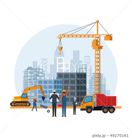 construction engineer cartoon 49270161