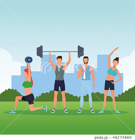 fitness people doing exercise 49274860