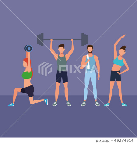 fitness people doing exercise 49274914
