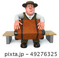 3d illustration a fat and Jolly man 49276325