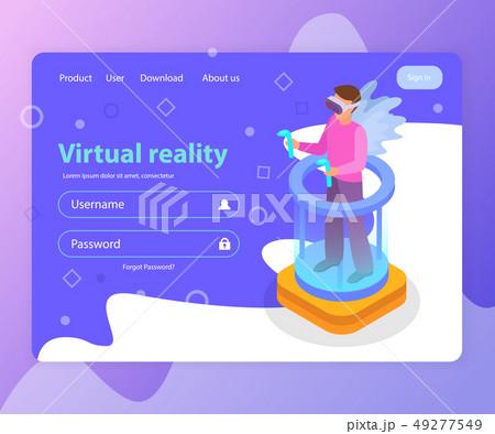 Virtual Reality Landing Page 49277549