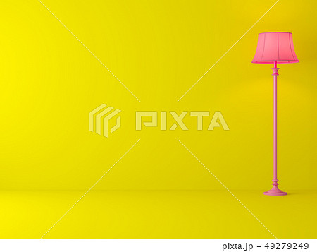 Minimal style yellow room 3d render 49279249
