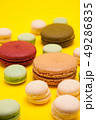 Delicious weeding french dessert over yellow background 49286835