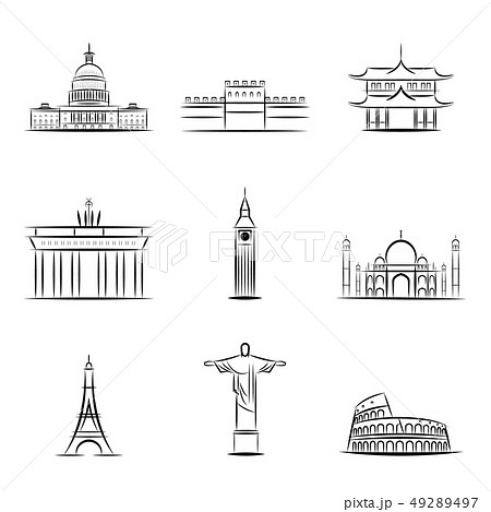 Sights of the countries of the world. Famous buildings and monuments of different countries and 49289497