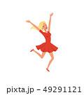 ジャンプ 幸せ 楽しいのイラスト 49291121