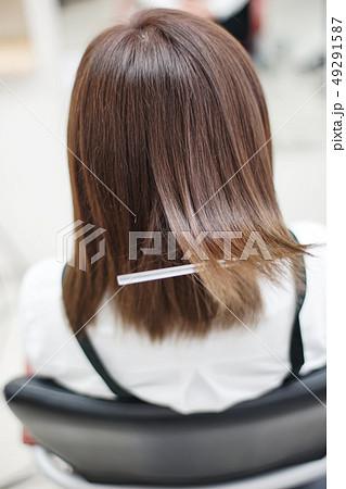 美容室イメージ 艶髪トリートメント perming写真素材 49291587