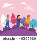 少年 女の子 女子のイラスト 49299989