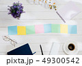 Message at colorful note papers on a desk background. 49300542
