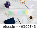 Message at colorful note papers on a desk background. 49300543