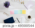 Message at colorful note papers on a desk background. 49300544