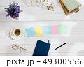 Message at colorful note papers on a desk background. 49300556