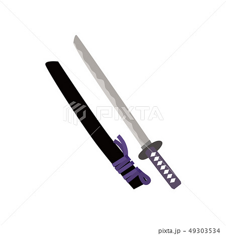 日本刀 刀 イラストのイラスト素材 49303534 Pixta