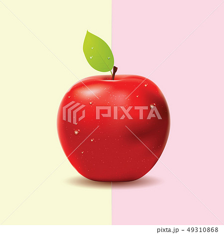 Two colored background with red apple 49310868