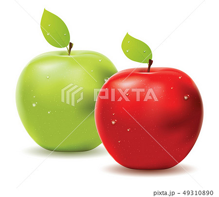 Green apple and red apple 49310890