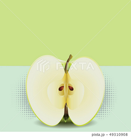 Apple half pop art 49310908