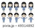 ブレザー制服の学生(男女) 49314892