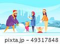 ファミリー 家庭 家族のイラスト 49317848