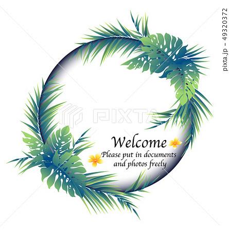 熱帯植物の飾り枠, 49320372