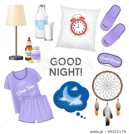 Good Night Realistic Design Concept 49323174