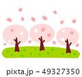 桜 桜並木 春のイラスト 49327350