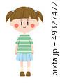 人物 子供 女の子のイラスト 49327472