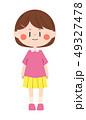 人物 子供 女の子のイラスト 49327478