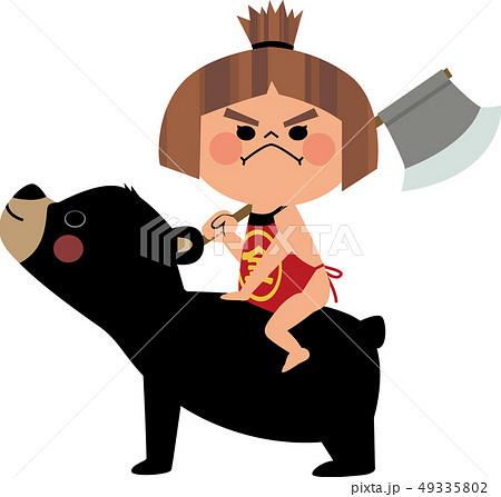 クマに跨がる金太郎 49335802