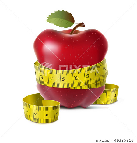 Apple with centimeter 49335816