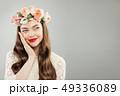 花 女 女の人の写真 49336089