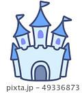 メルヘン お城 城のイラスト 49336873