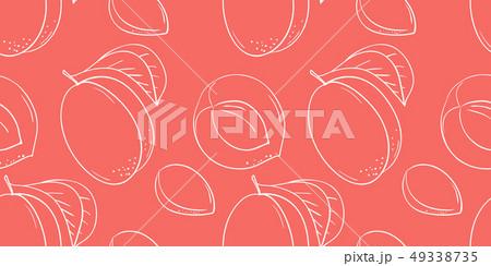 Vector hand drawn fruits icons set 49338735