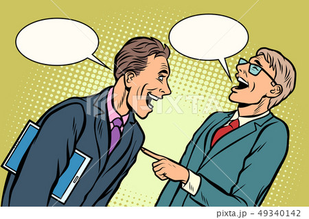 two businessmen meeting laughing 49340142