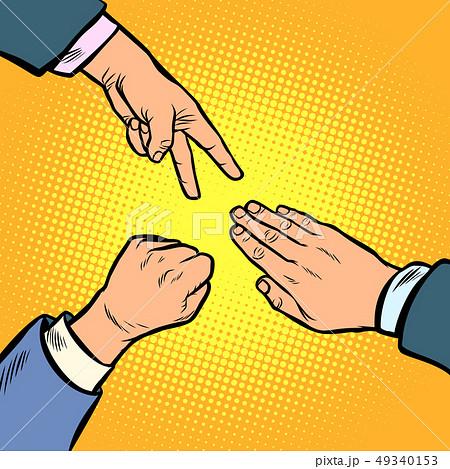 rock paper scissors game is a hand gesture 49340153