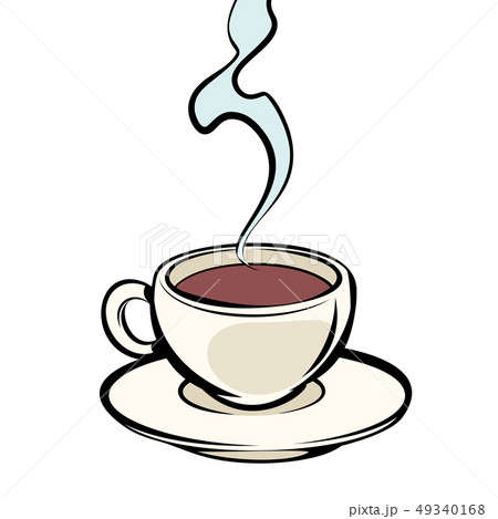 Cup of hot coffee 49340168