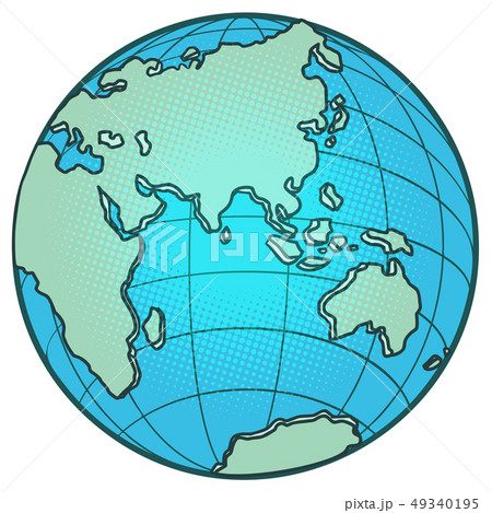 globe Eastern hemisphere. Africa Europe Asia Australia 49340195