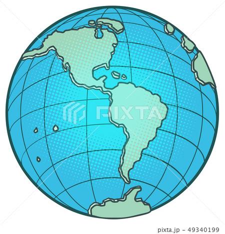 globe North and South America 49340199