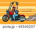 biker on chopper, motorcycle transport 49340207