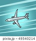 aircraft air transport blue background 49340214