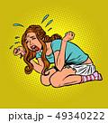 ベクトル 女 女の人のイラスト 49340222