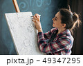 画伯 芸術家 アーティストの写真 49347295