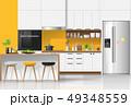 Modern colorful kitchen interior background 49348559