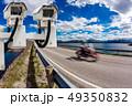 Radar speed control camera on the road 49350832