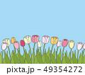 チューリップ チューリップ畑 花のイラスト 49354272